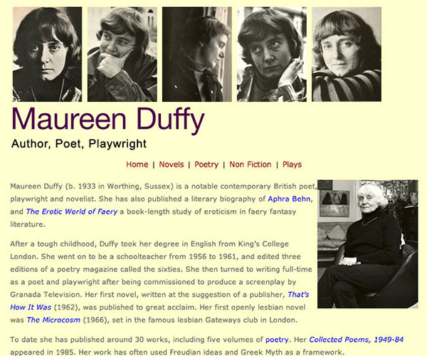 the life of maureen duffy Click to read more about that's how it was by maureen duffy librarything is a cataloging and social networking site for booklovers.